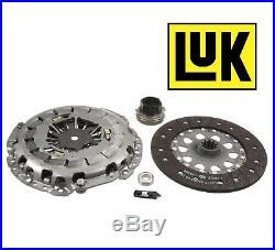 BMW E39 540i 97-03 Disc Pressure Plate Release Bearing Clutch Kit OEM LUK 03-040