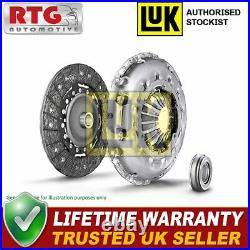 LUK 3Pc Clutch Kit with Release Bearing Releaser Repset 623037010