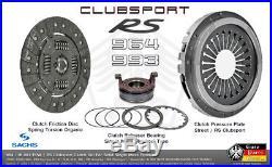 PORSCHE 964 993 RS Clutch Set Clubsport Pressure Plate Disc Release Bearing SACH