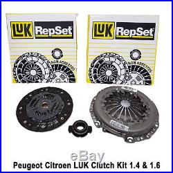Peugeot 306 Partner 1.4 1.6 LUK Clutch Kit Mechanism Plate Release Bearing New