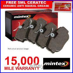 New MG MGF 1.8i 16V Genuine Mintex Rear Brake Pads Set